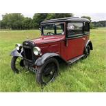 A 1933 Austin 7 box saloon Registration number WV 4333 Chassis number B8-8397 Engine number 184791