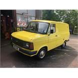 A 1984 Ford Transit Mk 2 Registration number B133 WWC Yellow MOT expires November 2020 Recent king