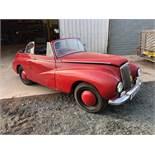 A 1950 Sunbeam-Talbot 80 Drop Head Coupe Registration number MTT 553 Red Garage stored Restoration