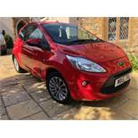 A 2015 Ford Ka Zetec Registration number WD15 XXL Red MOT expires July 2020 Approx. 16,550 recorded