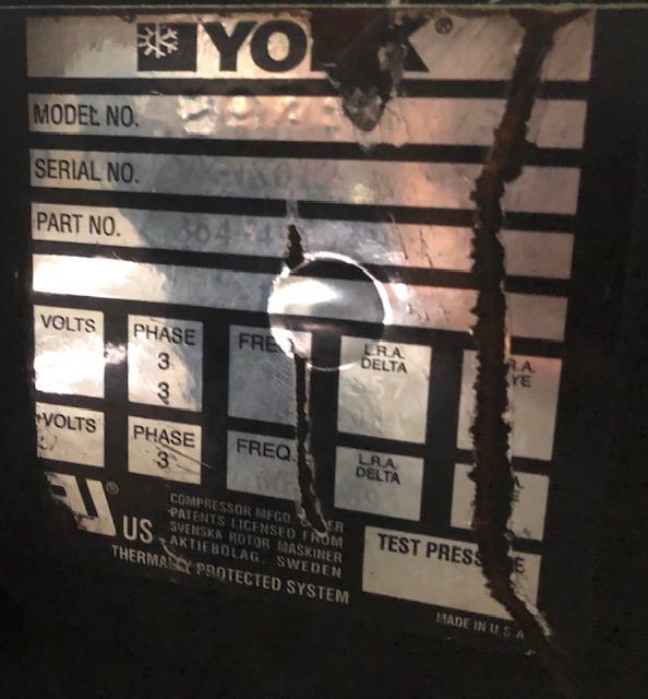 Lot 155 - York Chiller Compressor