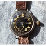 An early 20th century white metal Gentleman's wristwatch,