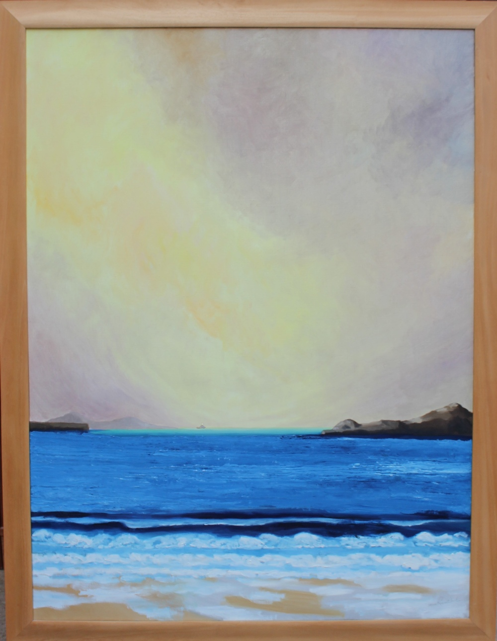 Stan Rosenthal Whitsands Beach Oil on canvas Signed and label verso 121 x 90cm - Image 2 of 4