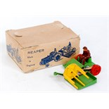 """Lot 1240 - Charbens Boxed Farm Series """"Reaper"""", green and yellow example, with orange wheels, with driver,"""