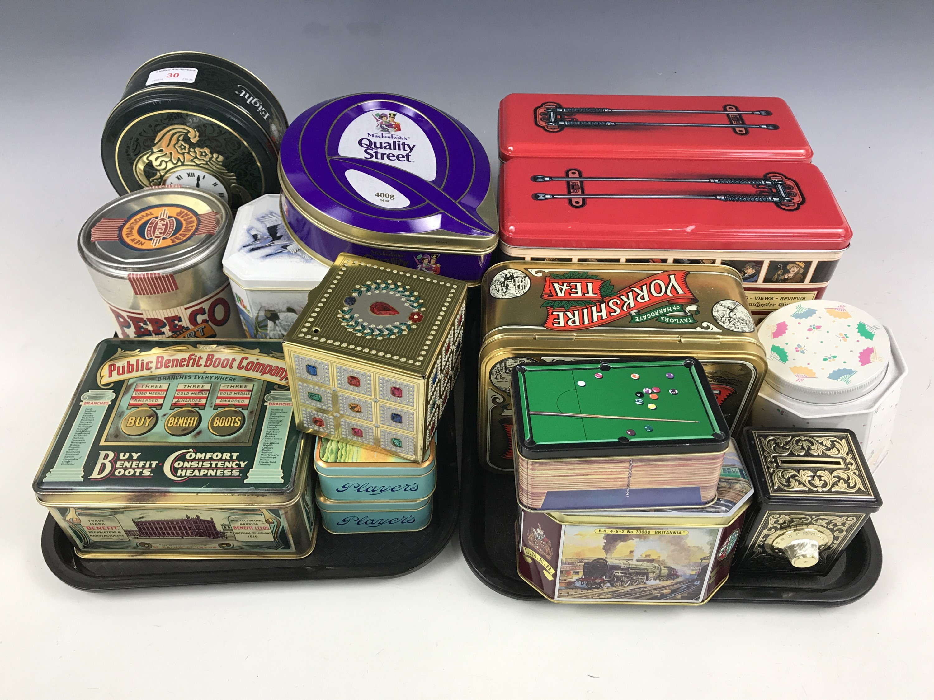 Lot 30 - A varied quantity of collectable tins manufactured by Metal Box of Carlisle