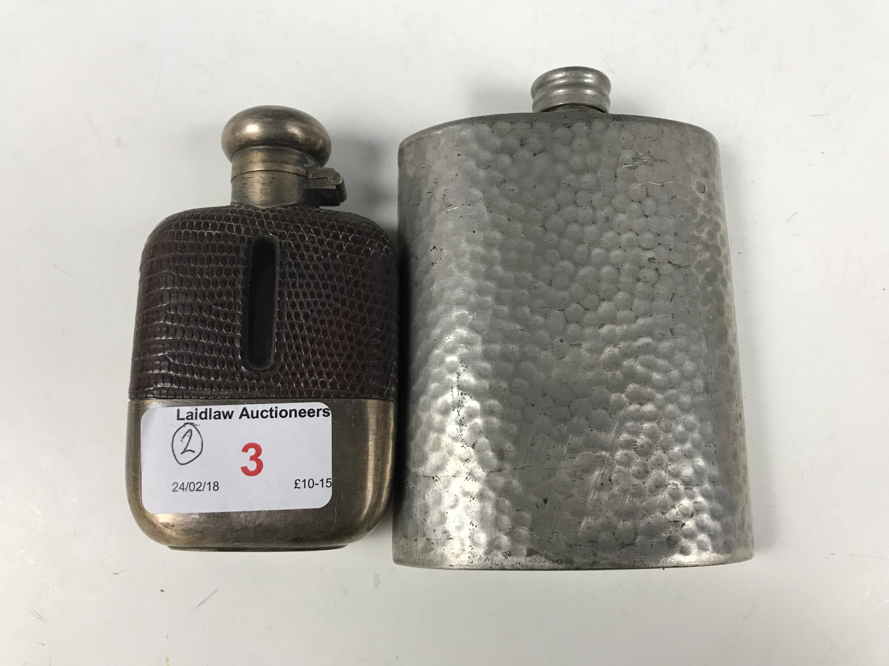 Lot 3 - Two hip flasks