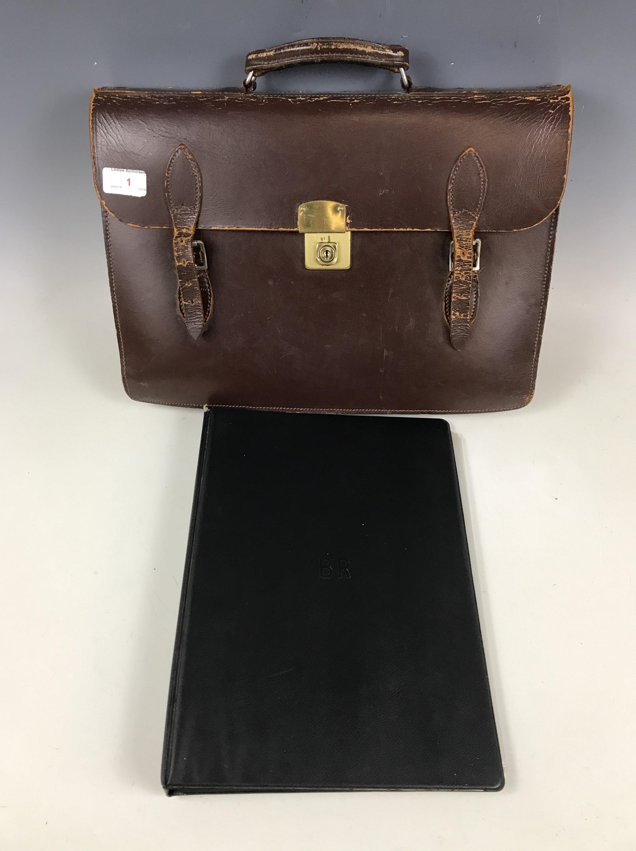 Lot 1 - [Railway / Locomotive] A British Rail briefcase and folder
