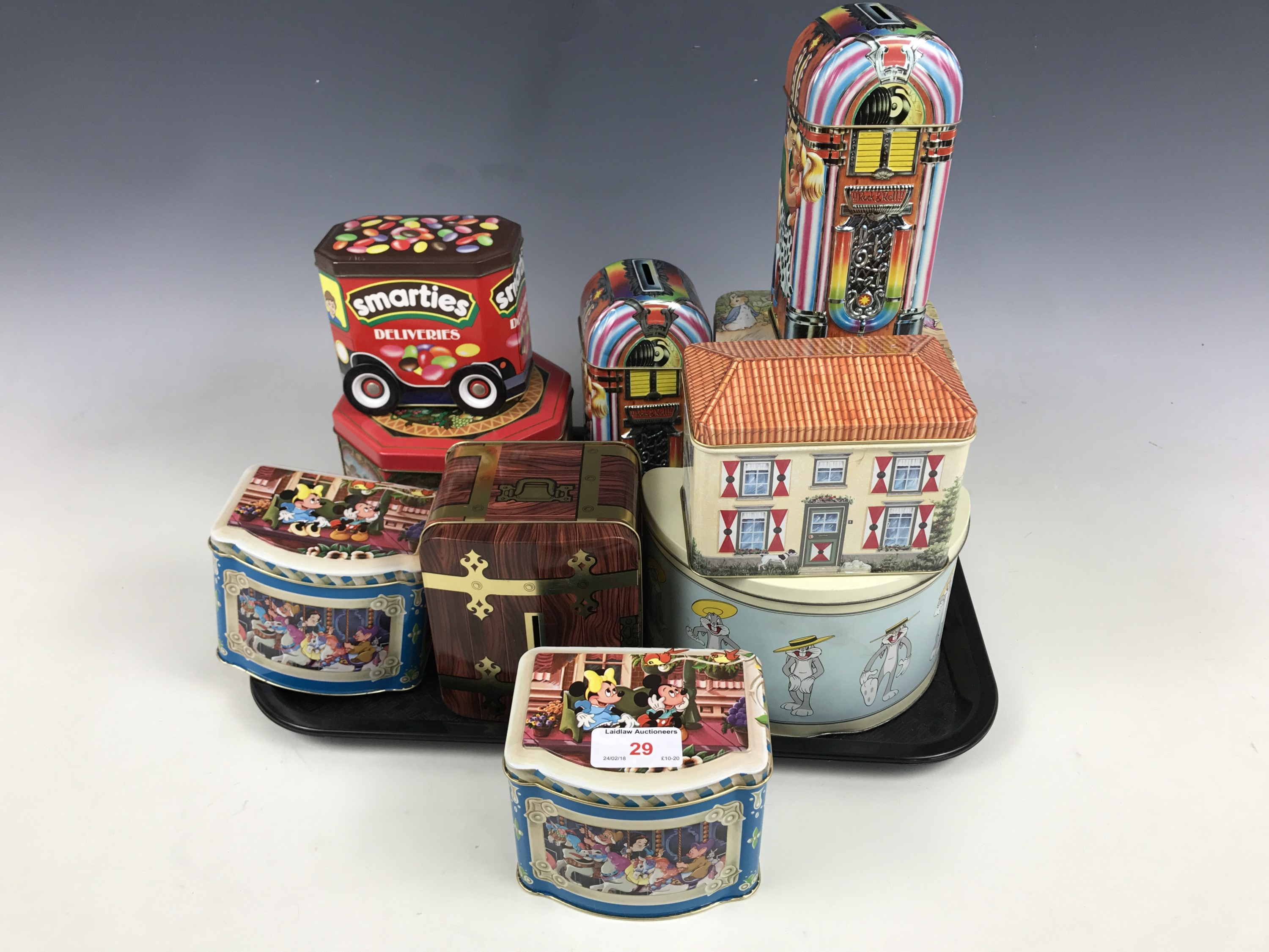Lot 29 - Children's novelty tins manufactured by Metal Box of Carlisle