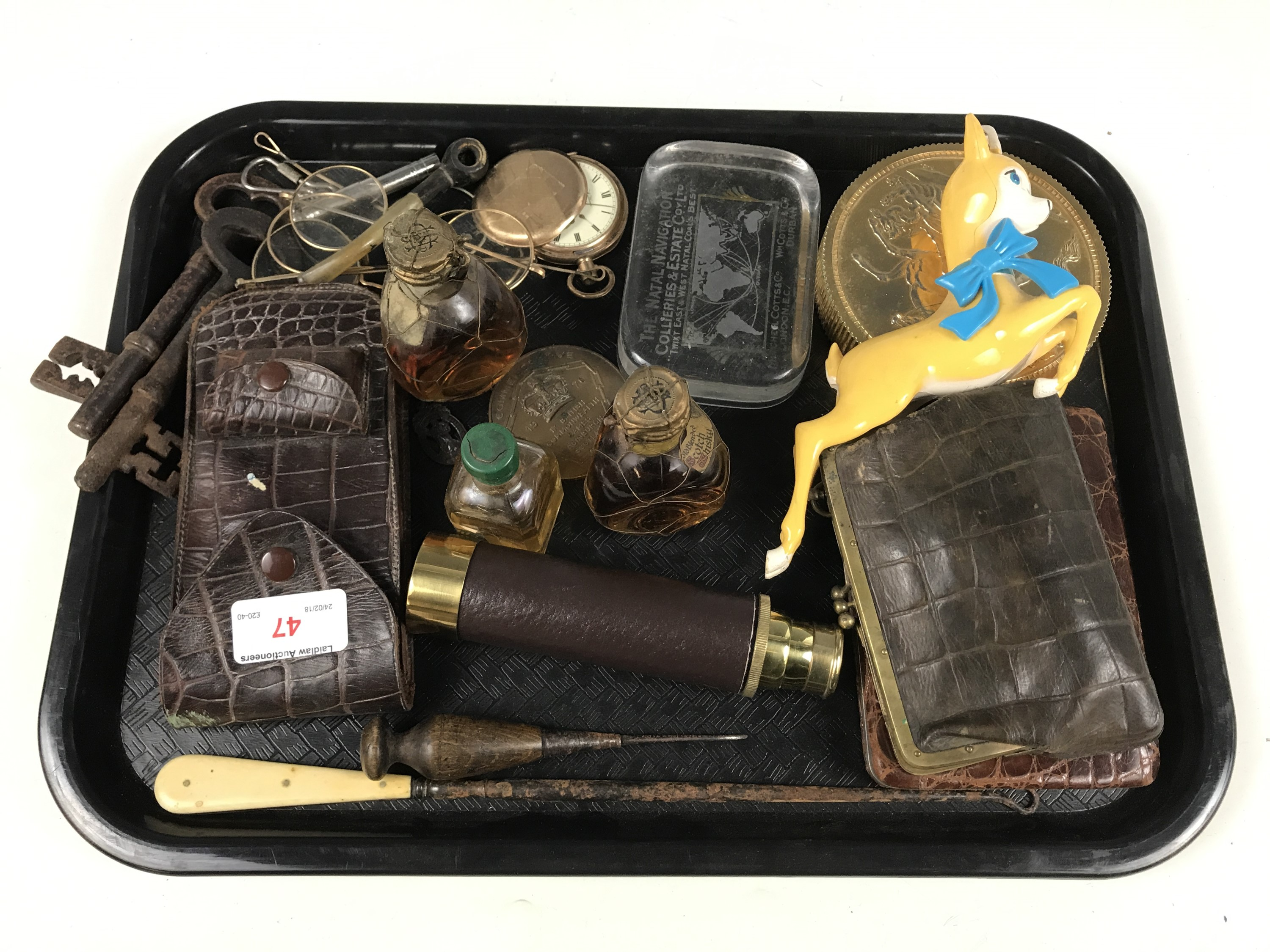 Lot 47 - Sundry collectors' items including a Babycham faun, and a Natal Navigation Collieries and Estate