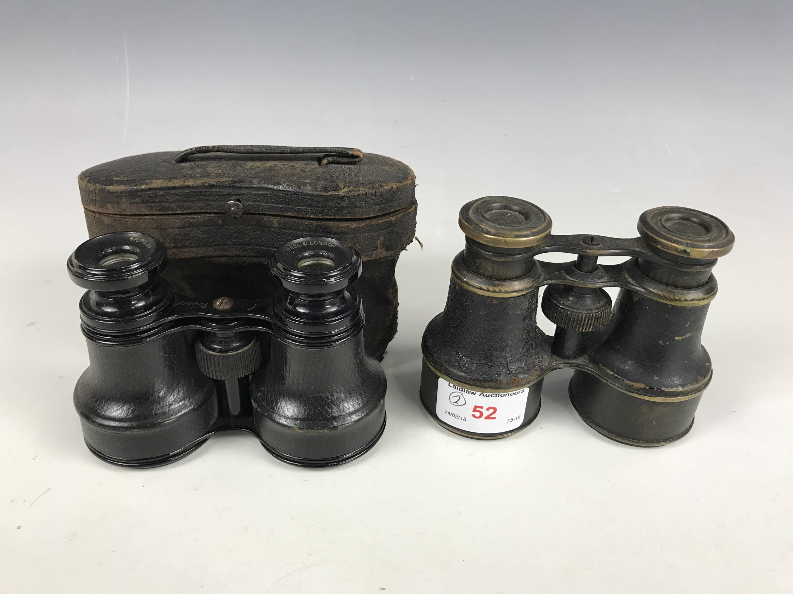 Lot 52 - Two sets of late 19th Century opera / field glasses (one a/f)