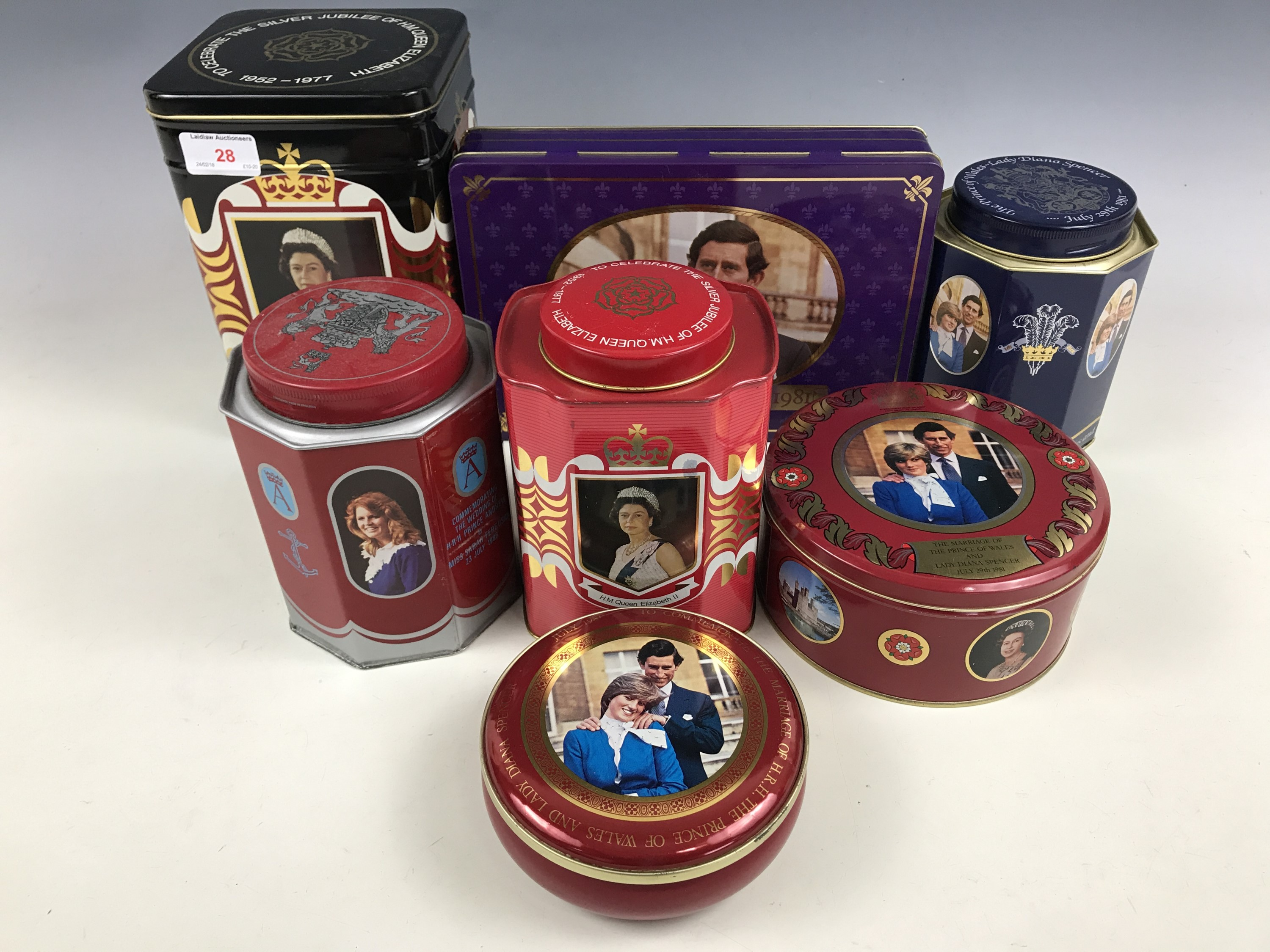Lot 28 - A quantity of Royal commemorative tins manufactured by Metal Box of Carlisle