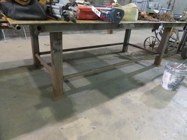 Lot 151 - 5' x 10' Metal Welding Table