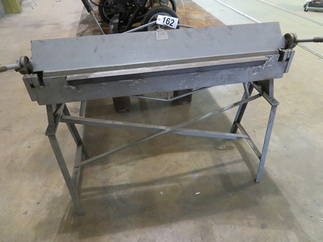 """Lot 162 - Central Machinery 48"""" Bench Type Hand Brake 22 Guage Mill Steel"""