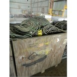 CRATE OF WELDING LEADS