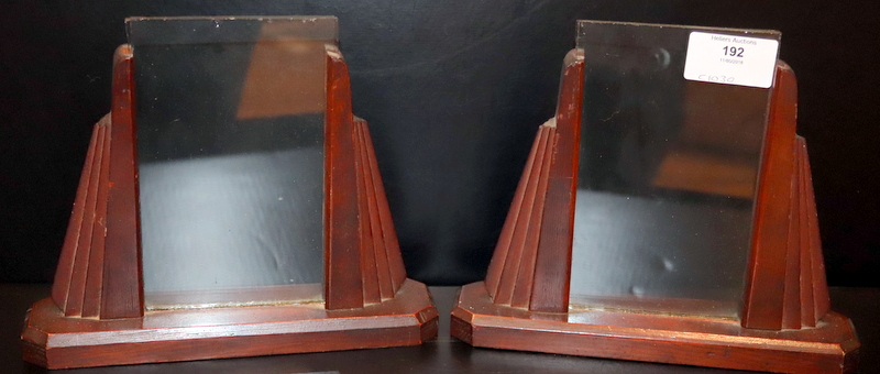 Lot 192 - Pair Of Art Deco Mahogany Photo Frames, 7.5 Inches Wide, 6.25 Inches Tall
