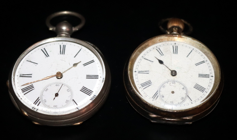 Lot 148 - Two Open Faced Silver Pocket Watches, Both With White Enamelled