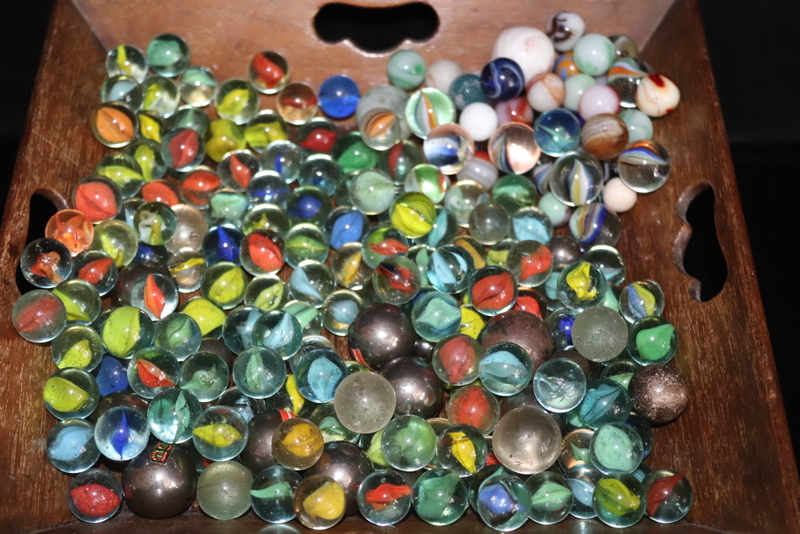 Lot 197 - Large Bag Of Marbles Containing Smaller Bag Of Interesting Varieties