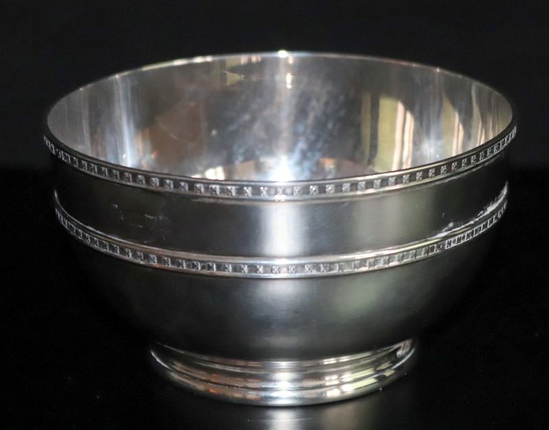 Lot 56 - Solid Silver Bowl, Fully Hallmarked But Rubbed, Stamped LOWE CHESTER To Bottom