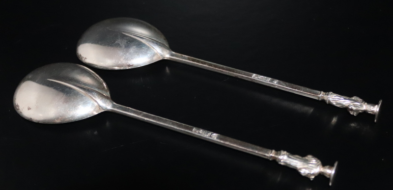 Lot 122 - Pair Of Silver Apostle Spoons Of Typical Form, Both Fully Hallmarked For Chester
