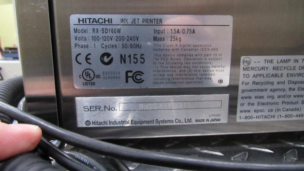 Lot 2 - Hitachi Ink Jet Printer