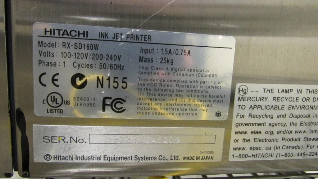 Hitachi Ink Jet Printer - Image 4 of 5