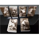 REPRODUCTION FRENCH EROTIC ART STUDIES POSTCARDS 300 IN TOTAL