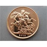 22CT GOLD 2013 FULL SOVEREIGN COIN