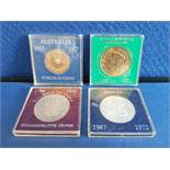COINS 4 CASED UNCIRCULATED COINS INCLUDES ROYAL WEDDING 29TH JULY 1981