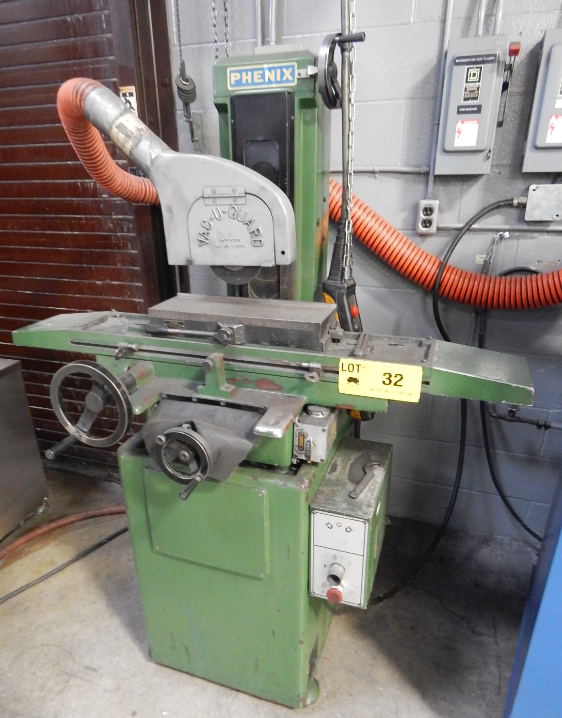 "Lot 32 - PHENIX SGS-618P MANUAL SURFACE GRINDER WITH 6""X18"" MAGNETIC CHUCK, S/N: 86M2B078 (CI)"