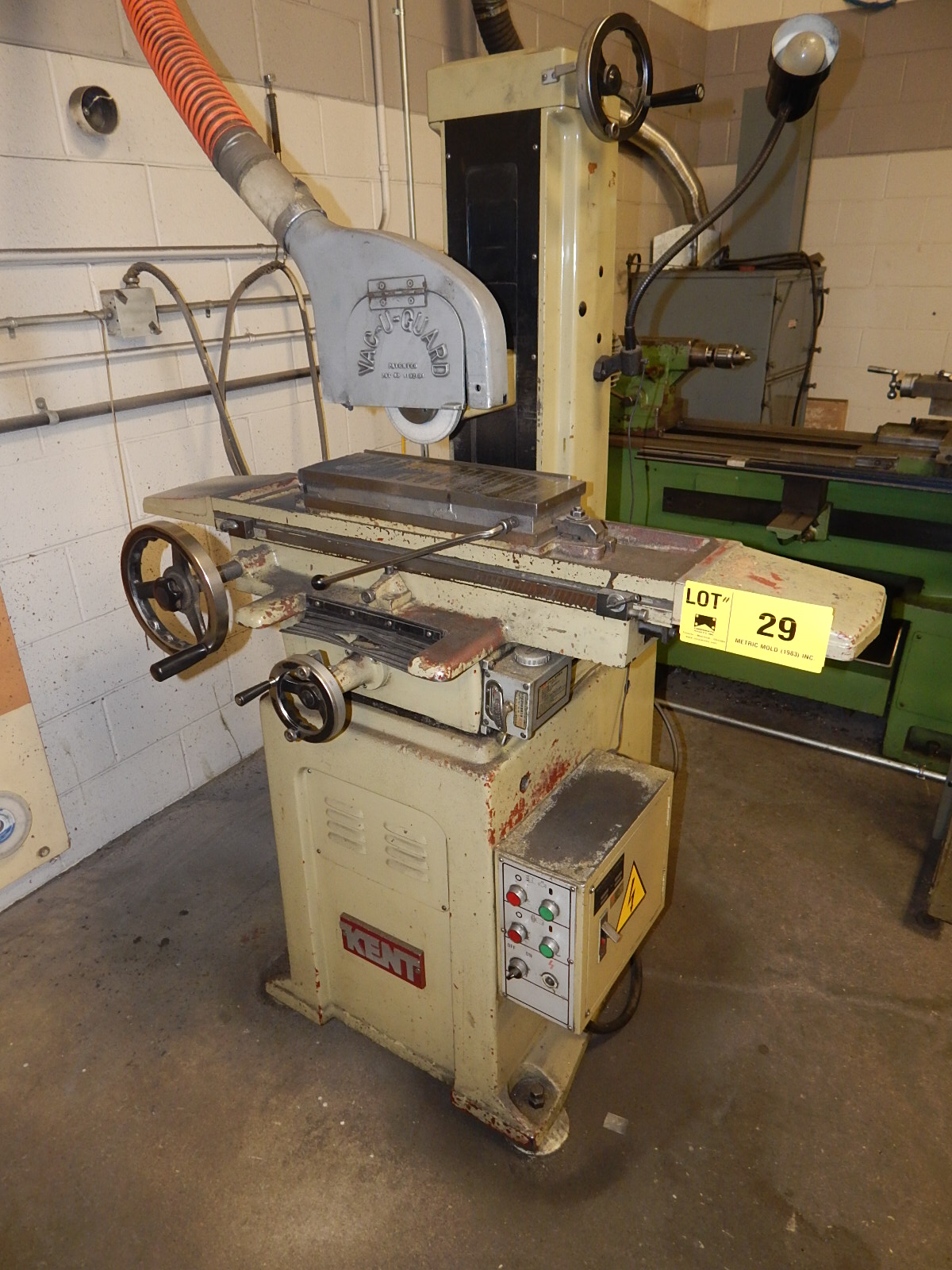"KENT KGS-618 MANUAL SURFACE GRINDER WITH 6""X18"" MAGNETIC CHUCK, S/N
