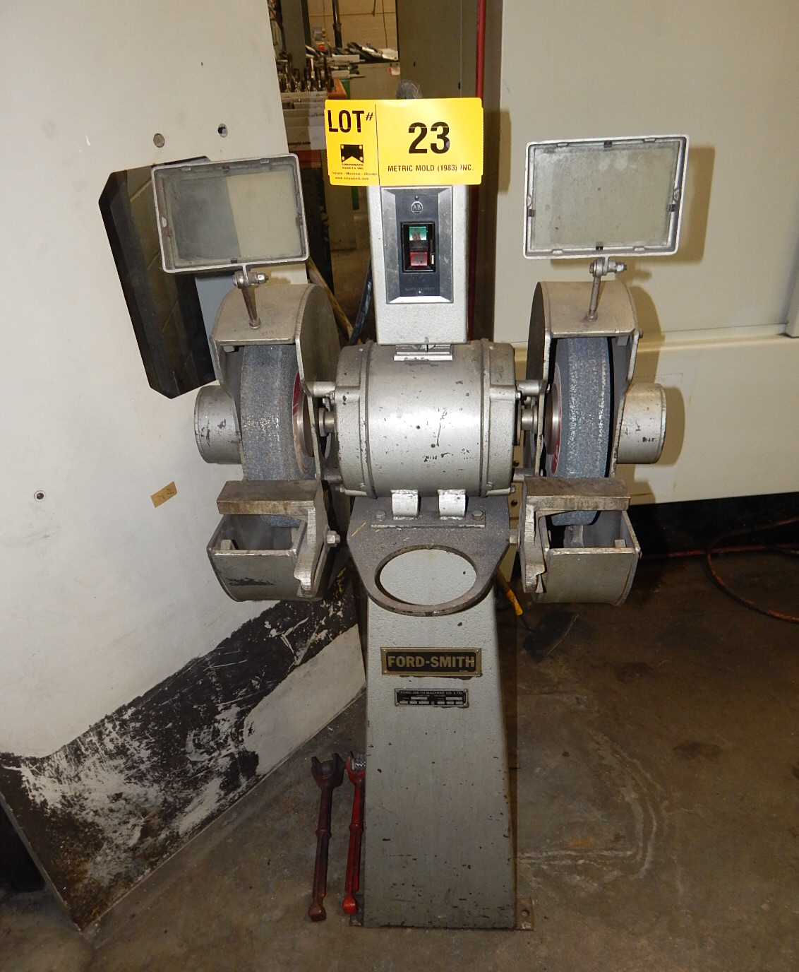 Lot 23 - FORD-SMITH 41-P DOUBLE END PEDESTAL GRINDER