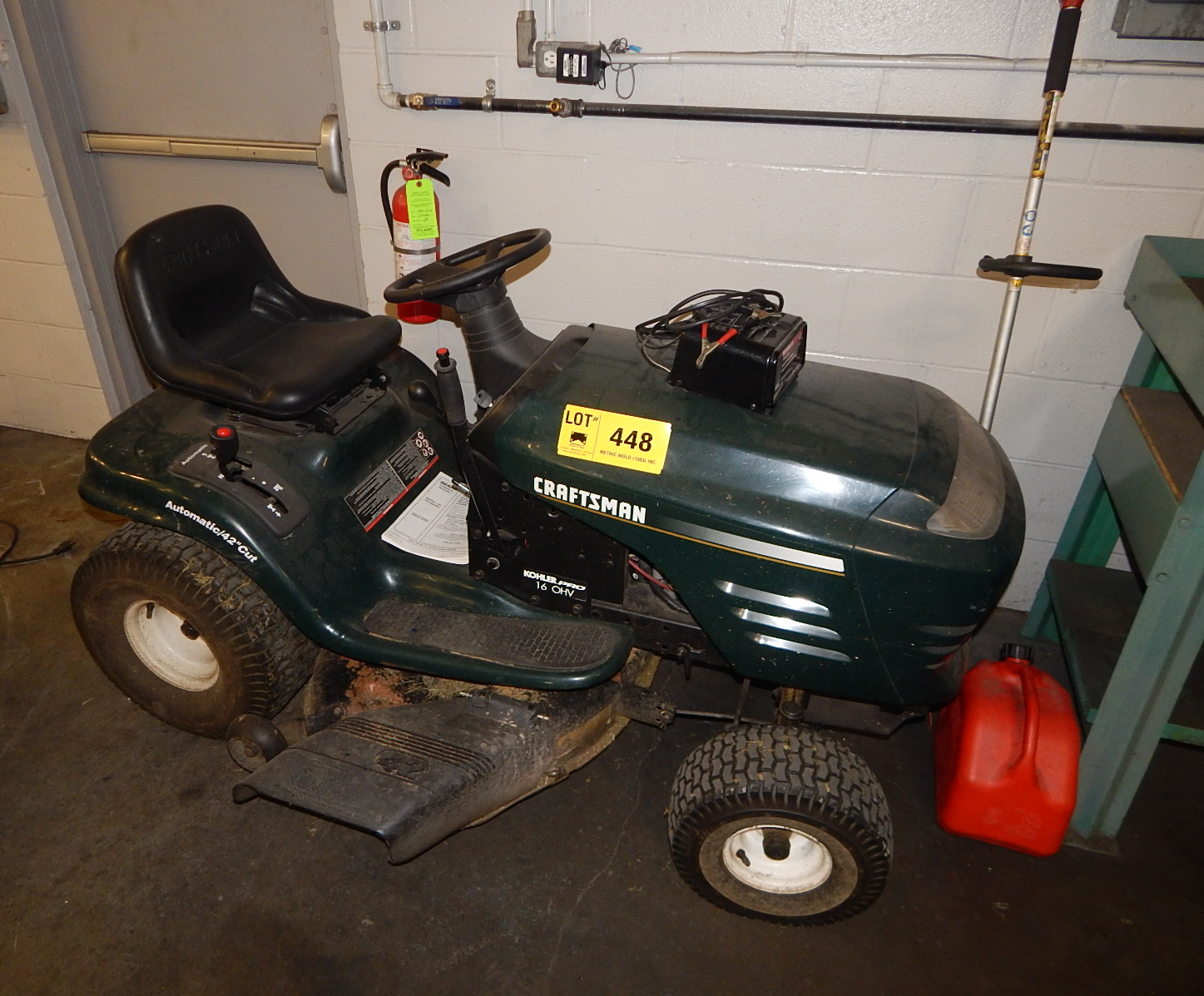 Lot 448 - LOT/ CRAFTSMAN LAWN TRACTOR WITH WEED WHACKER (BUILDING 2)