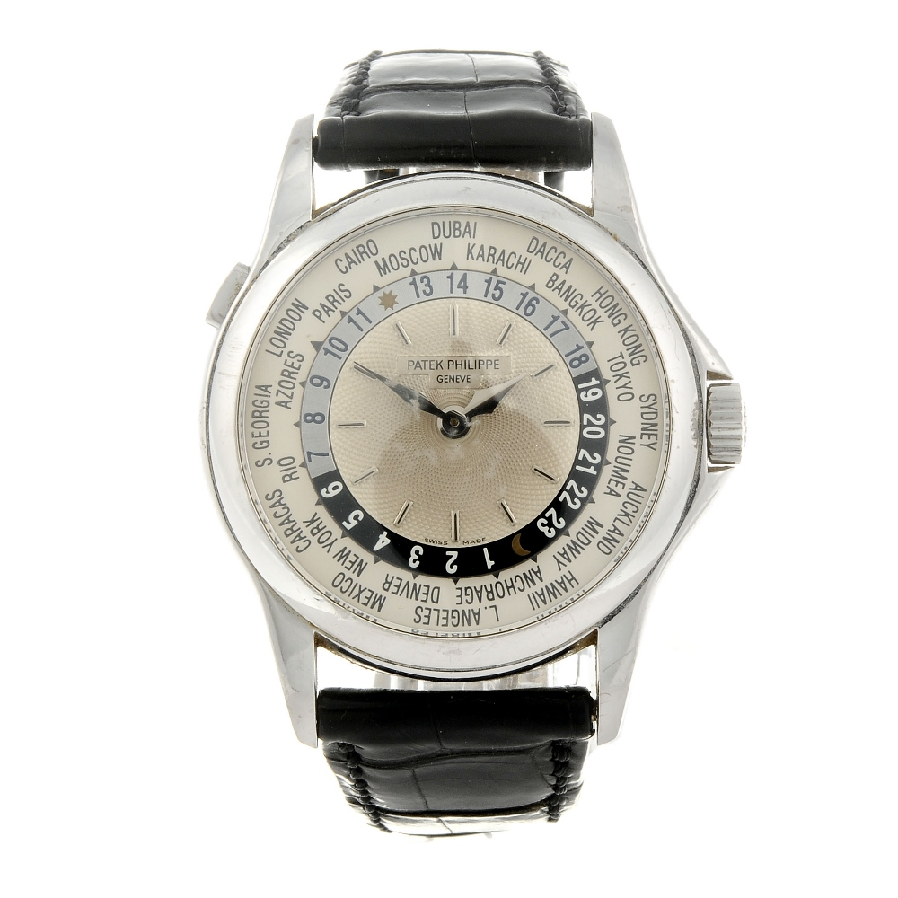 PATEK PHILIPPE - a gentleman's 18ct white gold World Time wrist watch