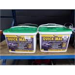 4 tubs of Quick Mac repair compound