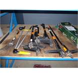 7 assorted Fiskers weeders, pair of Fiskers shears and a Rollson fork o