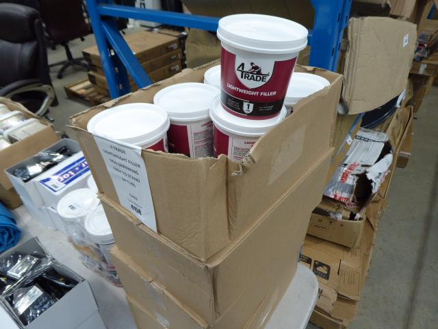 24 tubs of lightweight non shrinking filler