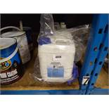 2 tubs of degreaser concentrate and 1½ tubs of hand sanitizer