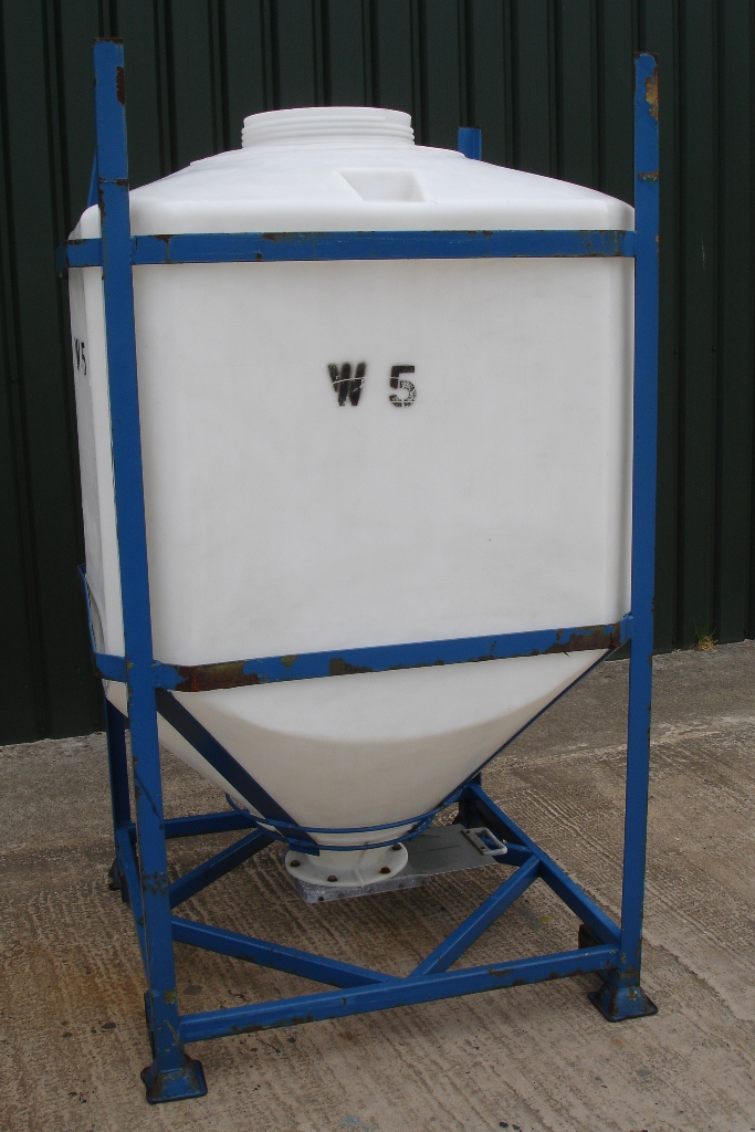 Lot 27 - Stackable Bulk Storage Hopper With Valve on Bottom