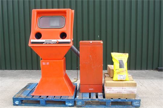 Previous & Guyson Jetstream Blasting Cabinet With Dust Extractor Both units are ...