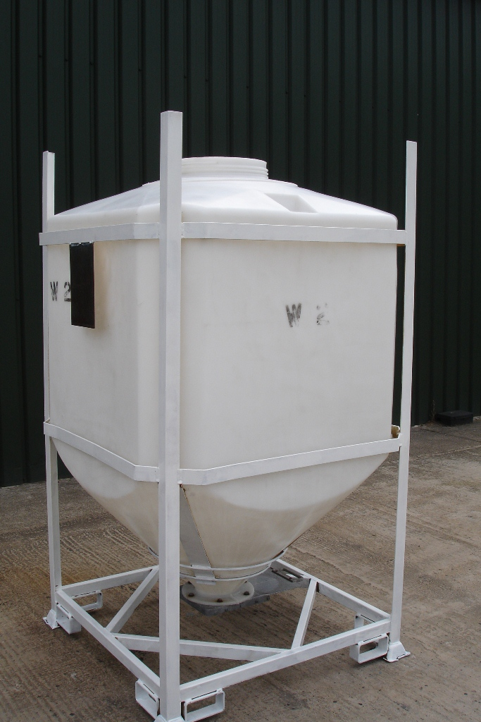 Lot 26 - Stackable Bulk Storage Hopper With Valve on Bottom