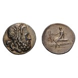 Lot 30 - Macedonian Kingdom. Antigonus Doson. 229-221 BC. Tetradrachm, 17.11g (1h). Obv: Bearded head of