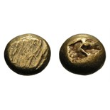 Lot 61 - Uncertain Mint in Western Ionia. c. 650-600 BC. Hekte, 2.41g (12h). Obv: Flattened striated surface.