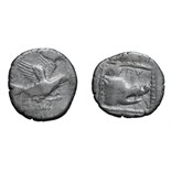 Lot 57 - Crete, Lyttus. c. 300-270 BC. Stater, 10.70g (11h). Obv: Eagle flying right with both wings above
