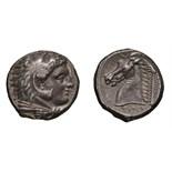 Lot 22 - Sicily. Siculo-Punic. c. 300-290 BC. Tetradrachm, 16.66g (10h). Obv: Head of Herakles-Melqarth
