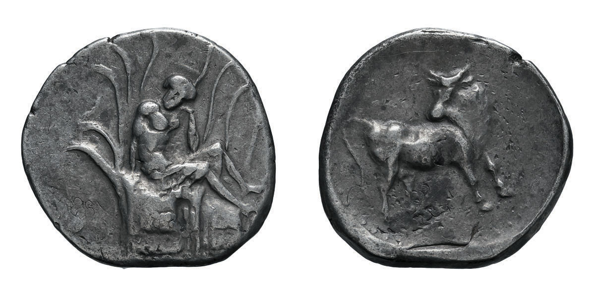 Lot 56 - Crete, Gortyna. c. 350-320 BC. Stater, 11.77g (10h). Obv: Europa seated right amid the branches of a