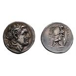 Lot 33 - Kingdom of Thrace. Lysimachus. 306-281 BC. Tetradrachm, 17.08g (2h). Amphipolis, c. 288-281 BC. Obv: