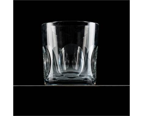 A BACCARAT CRYSTAL ICE BUCKET Clear crystal in 'Harcourt' pattern, acid etched makers mark23cm high, 21cm wide.