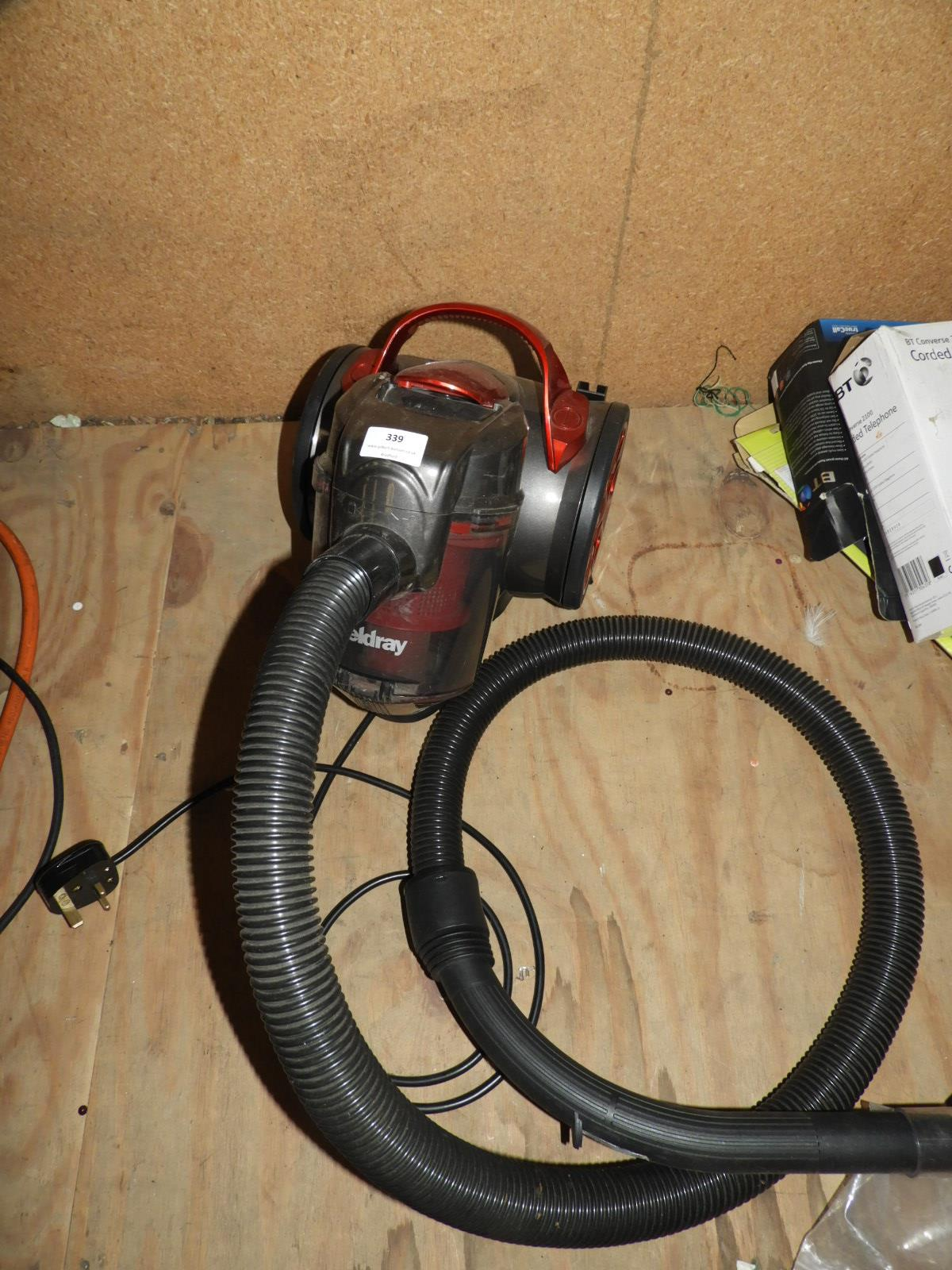 Lot 339 - Beldray Cylinder Vacuum Cleaner