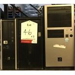 3 x Desktop PC Towers. See description.