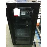 Black Metal Server Cabinet